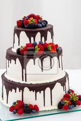 Schokolade Weisse Hochzeitstorte Fototapete Fototapeten Esszimmer