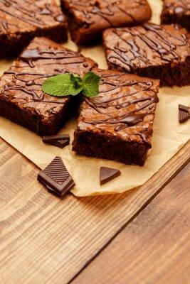 Fototapete Schokoladenkuchen auf einem Backblech