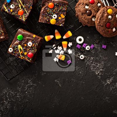 Schokoladenmonster Brownies Hausgemachte Leckereien Für Halloween