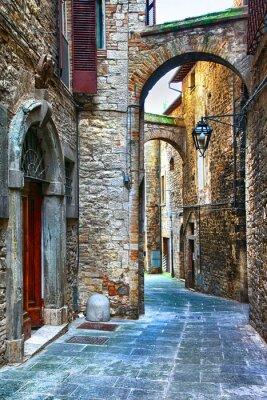 Fototapete schöne alte Straßen der italienischen mittelalterliche Städte, Tody