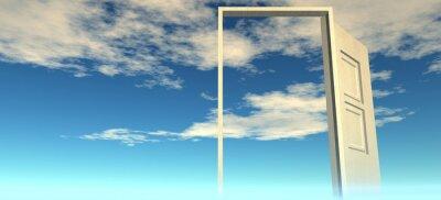 Fototapete Schöne Aussicht auf den Himmel. Türen zum Himmel.