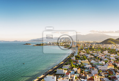 Fototapete Schöne Aussicht auf Nha Trang Bay in Vietnam