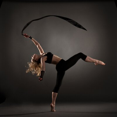 Fototapete schöne Ballett-Tänzerin