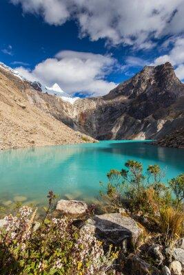 Fototapete Schöne Berglandschaft in den Anden, Peru, Cordiliera Blanca