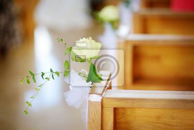 Schone Blume Hochzeit Dekoration In Einer Kirche Wahrend Der
