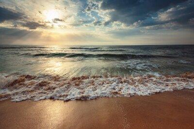 Fototapete Schöne cloudscape über dem Meer