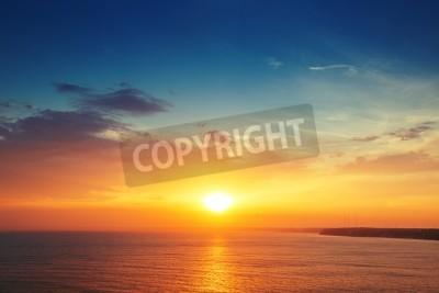 Fototapete Schöne cloudscape über dem Meer, Sonnenuntergang schoss