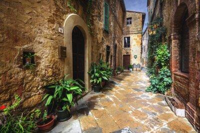 Fototapete Schöne Ecken und Winkeln des mittelalterlichen italienischen Dorfes