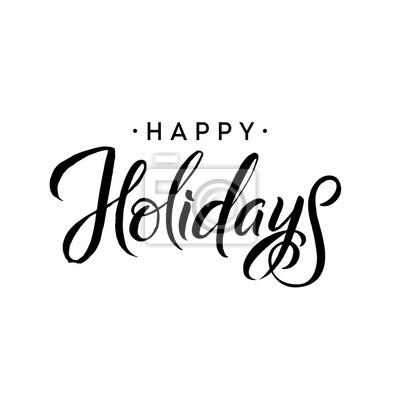Schablone Frohe Weihnachten.Fototapete Schöne Ferien Frohe Weihnachten Kalligraphie Schablone Grußkarte