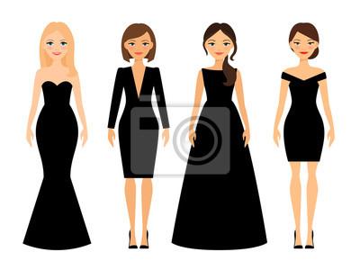 Schwarze schone kleider
