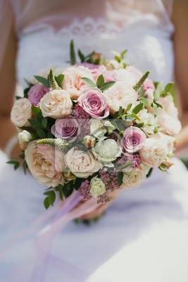 Schone Hochzeit Bouquet Von Rosa Und Beige Spray Rosen Auf Die