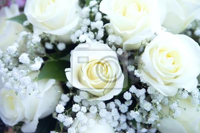 Schone Hochzeitsstrauss Weisse Rosen Fototapete Fototapeten Schone