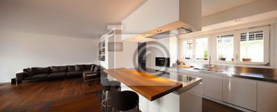 Fototapete Schöne Küche Und Wohnzimmer In Luxus Wohnung