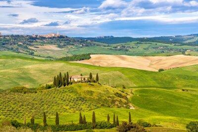 Fototapete Schöne Landschaft in der Toskana, Italien