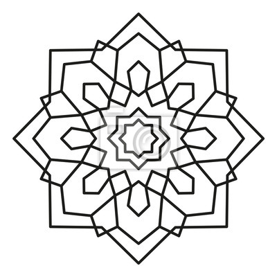 Schöne mandala form zum ausmalen. vektor-mandala. weihnachten ...