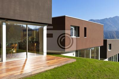 Fototapete Schöne, Moderne Haus Mit Garten, Im Freien