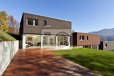 Fototapete Schöne, Moderne Häuser Mit Garten, Im Freien