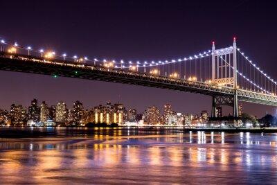 Fototapete Schöne Nacht von Sicht von New York City und der 59th Street Ed Koch-Brücke Blick über nach Manhattan.