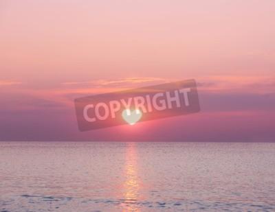 Fototapete Schöne Sonnenaufgang auf Meer Hintergrund