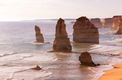 Fototapete Schöne Sonnenuntergang Ansicht an der Küste der Zwölf Apostel von Great Ocean