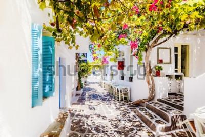 Fototapete Schöne Straße auf Paros Island, Griechenland