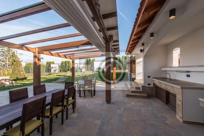 Schöne Holztische schöne terrasse lounge mit pergola und holztisch mit stühlen