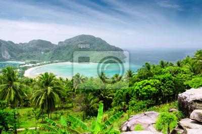 Fototapete Schöne tropische Landschaft. Phi Phi Don Island, Thailand