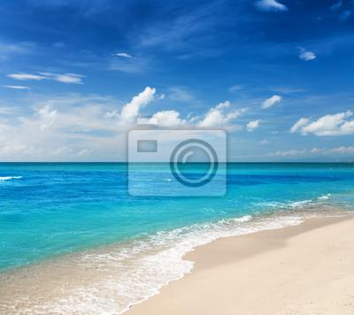 Fototapete Schöne tropische Meer und blauer Himmel