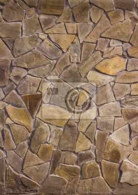 Fototapete: Schöne wand aus gelbem sandstein