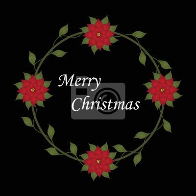 Bilder Schöne Weihnachten.Fototapete Schöne Weihnachten Dekorative Rahmen Mit Weihnachts Blumen