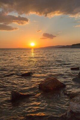 Fototapete Schönen Sonnenuntergang im Süden