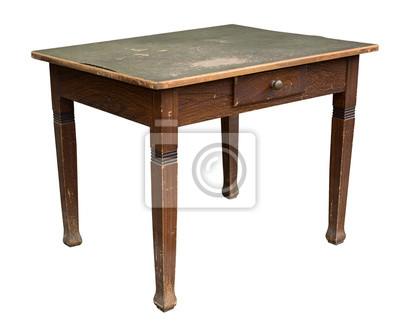 Schöner alter vintage antiker tisch, shabby chic fototapete ...