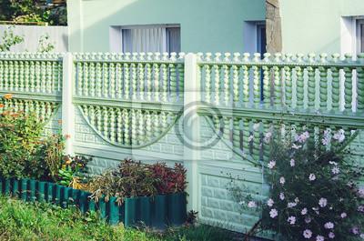 Schoner Beton Zaun Moderner Zaun Ideen Fototapete Fototapeten