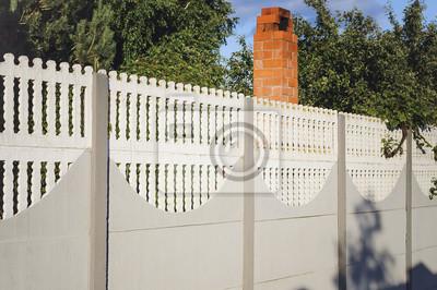 Schoner Betonzaun Von Modern Style Design Zaun Ideen Fototapete