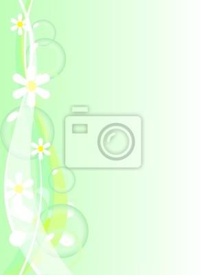 Schöner Frühling Hintergrund. Vektor-Illustration.