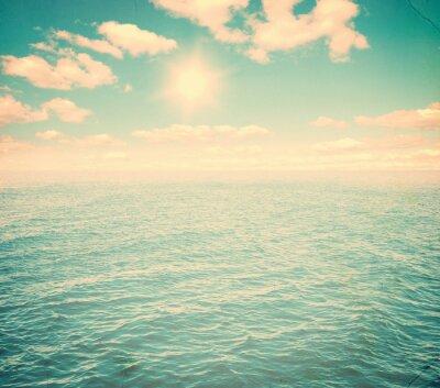 Fototapete Schöner Himmel und blaues Meer