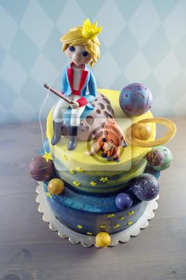 Fototapete Schoner Kuchen Der Grossen Kinder Verziert In Form Des Planeten