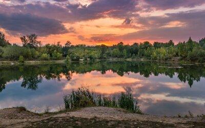 Fototapete Schöner See in der Slowakei