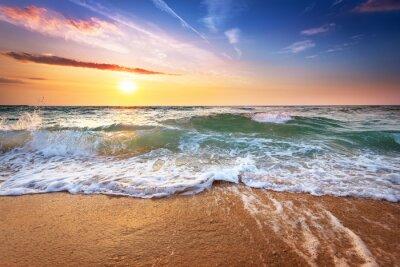 Fototapete Schöner Sonnenuntergang über dem Ozean.