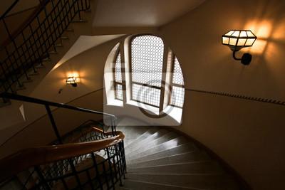 Schones Fenster Im Treppenhaus Fototapete Fototapeten Tour