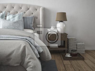 Schönes schlafzimmer fototapete • fototapeten appartment, Innenräume ...