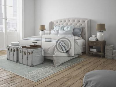 Fototapete: Schönes schlafzimmer