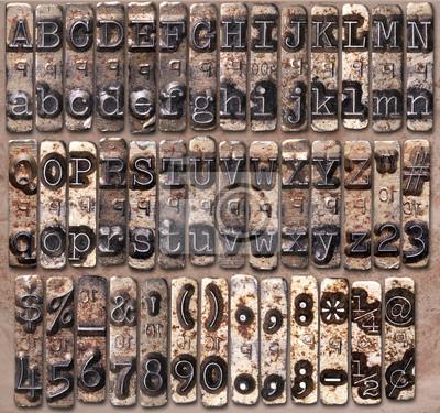 Fototapete Schreibmaschine Metall Alphabet