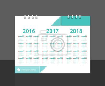 Fototapete Schreibtisch Kalender 2017 Rückseite Design (2016, 2017, 2018)  Layout