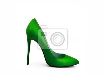 c66059748edf56 Schuhe isoliert auf weißem hintergrund fototapete • fototapeten Lack ...