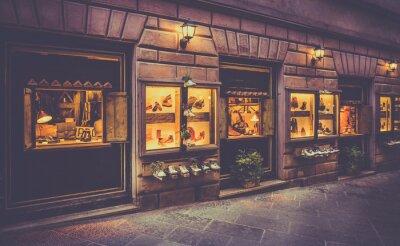 Fototapete Schuhe Shop in der Toskana