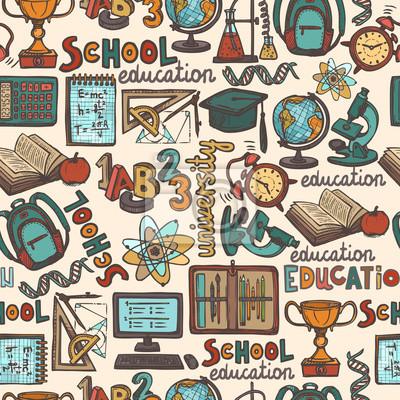 Schulbildung nahtlose Muster