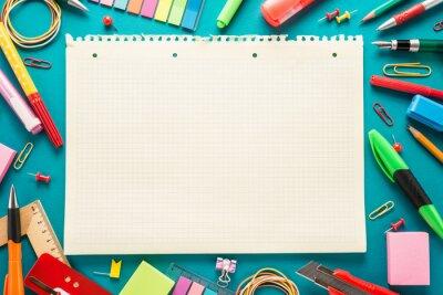 Fototapete Schule Büromaterial