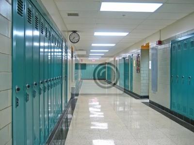 Fototapete Schule Flur
