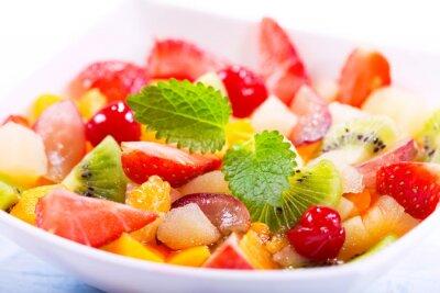 Fototapete Schüssel Fruchtsalat